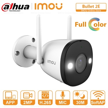 Dahua IP Camera Wifi Outdoor Full Color Night Vision Built-in Spotlight Audio Recording ONVIF Soft AP Mode P2P Surveillance Cam