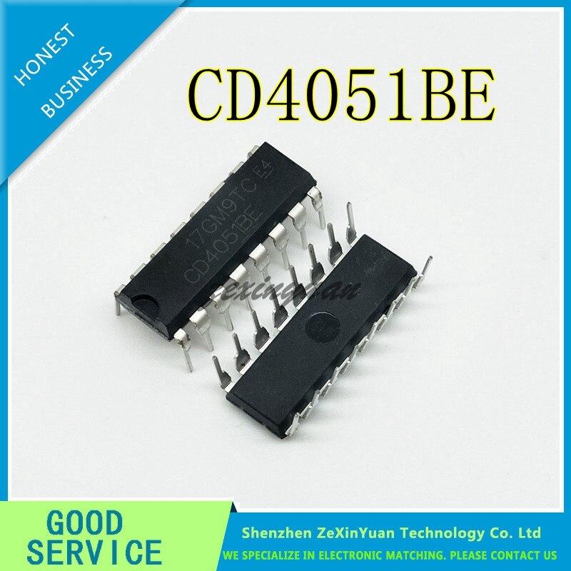 50 Uds CD4051BE CD4051 DIP16 CMOS analógica multiplexores/demultiplexores con conversión de nivel lógico IC