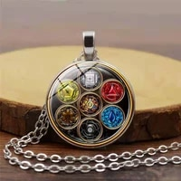 new pendant necklace seven chakras time stone necklace pendant yoga europe and the united states health necklace accessories