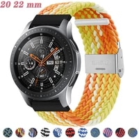 20mm 22mm nylon strap for samsung galaxy watch 42mm 46mm band active 2 watch adjustable bracelet for amazfit watch band huawei