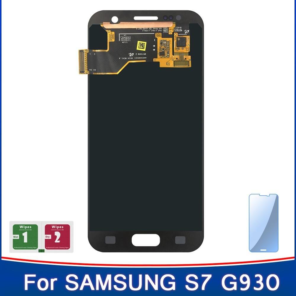 Novedad de 100%, pantalla súper Amoled para Samsung Galaxy S7 G930A G930F, SM-G930F, pantalla táctil LCD, reemplazo del digitalizador
