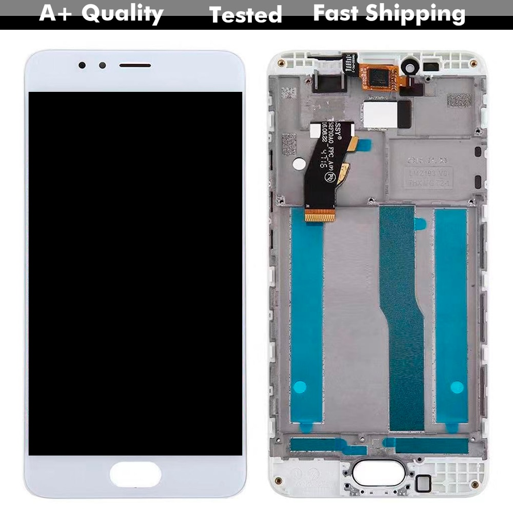 KUERT-100% LCD para Mei zu M5S M612H M612M M5S, pantalla LCD, montaje de lente de cristal Digitalizador de Panel táctil con marco