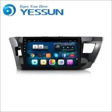 YESSUN-lecteur DVD pour voiture   Pour Toyota Corolla 2014 ~ 2016, Android GPS, Navigation, lecteur DVD, multimédia, Radio Audio-vidéo, écran multi-tactile