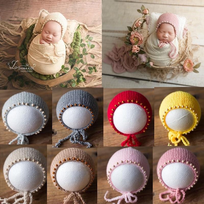 newborn baby photography Newborn Photography Props Knit Newborn Hat Baby Photo Studio Photography Props Cap Baby Photography Props