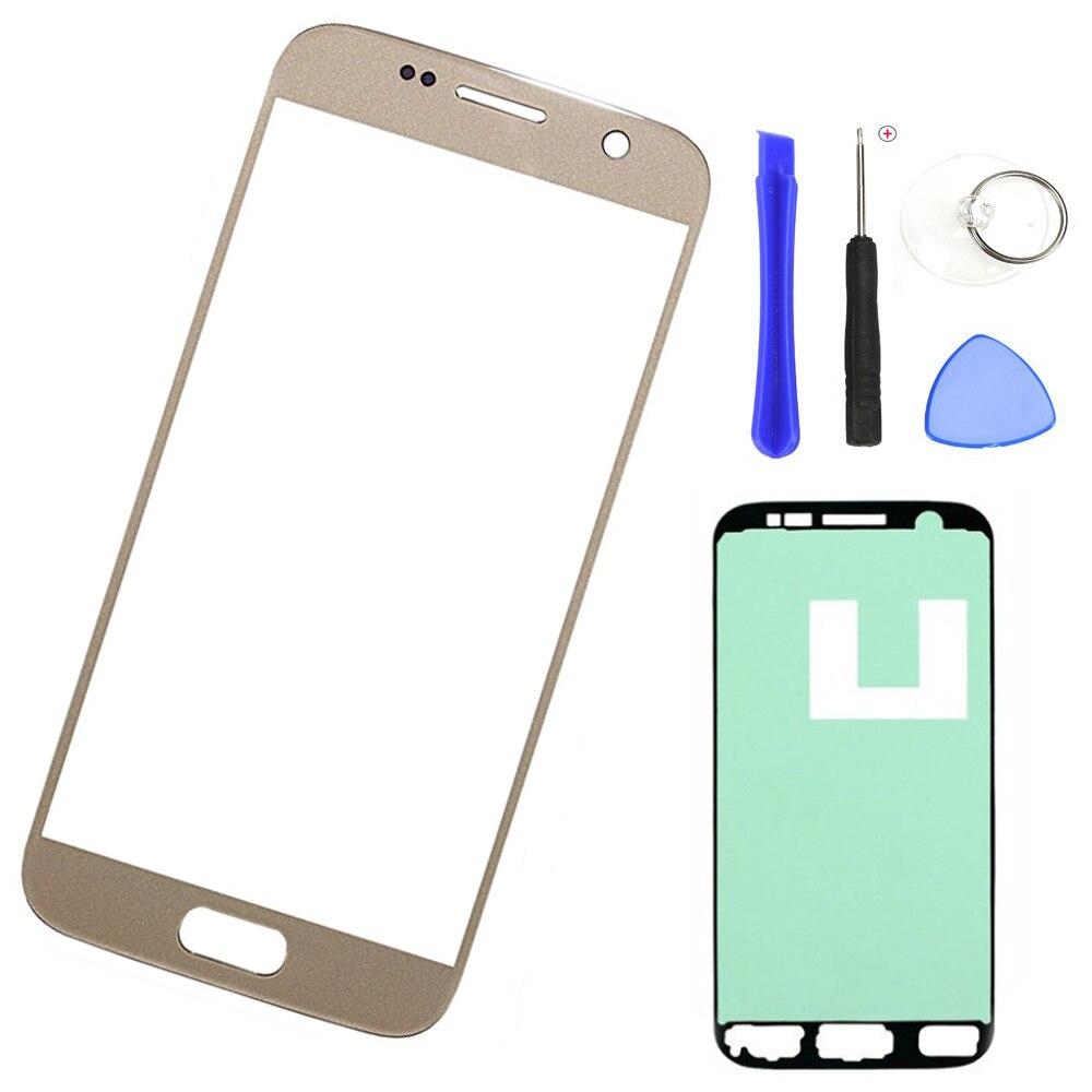 Телефон сенсорный экран стекло для samsung Galaxy S7 G930F G930FD G930 Оригинальный ЖК передняя внешняя стеклянная панель Замена объектива + Инструменты