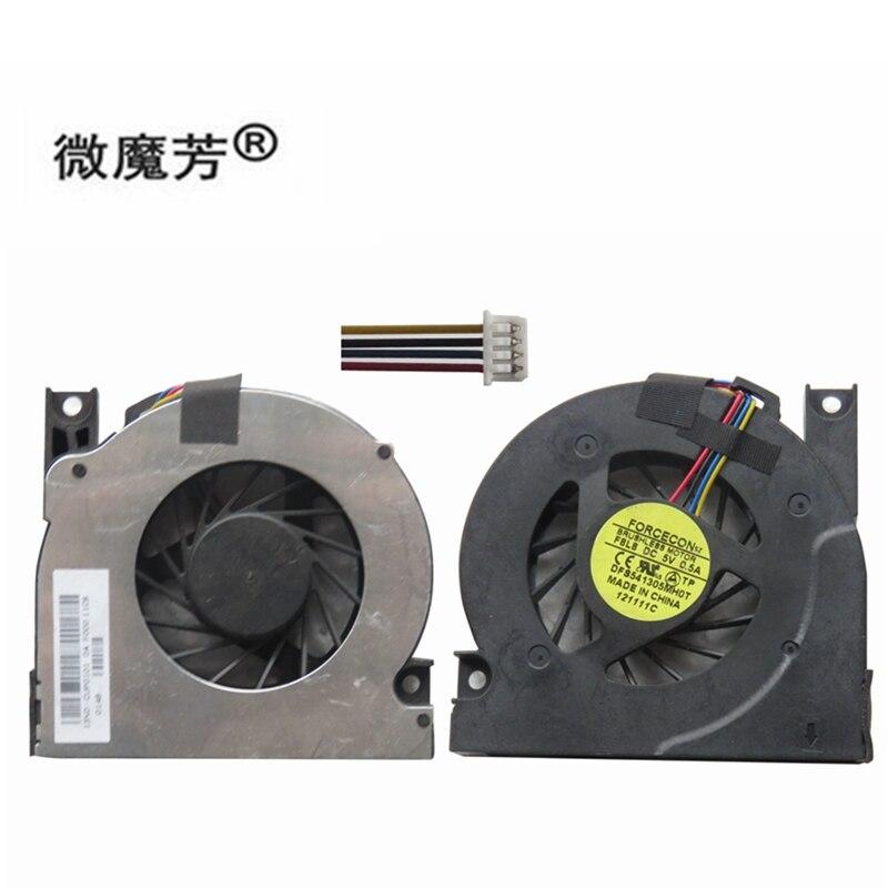 Ventilador de refrigeração cpu para asus a9t a94 x51 x50s x53 x50q x50z x50m f5 x50sl x50v GB0575PFV1-A 5v 1.9w 4 fios notebook cooler