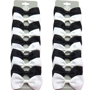 20PCS/Lot Cute Black and White With Clip Grosgrain Ribbon Bow Hairpins 2020 Scrunchie Korean CLIP Hair Accessories For Baby Girl
