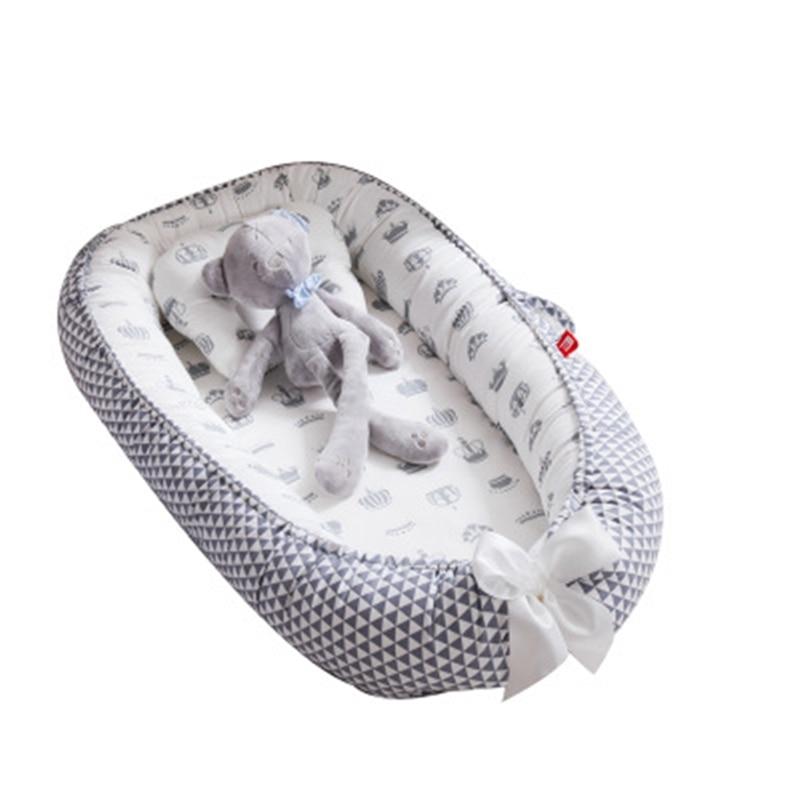 85*50cm Baby Nest Bed Portable Crib Travel Bed Infant Cradle Baby Play Mat Nest Bassinet Bumper Soft Crib Newborn Bassinet Pad