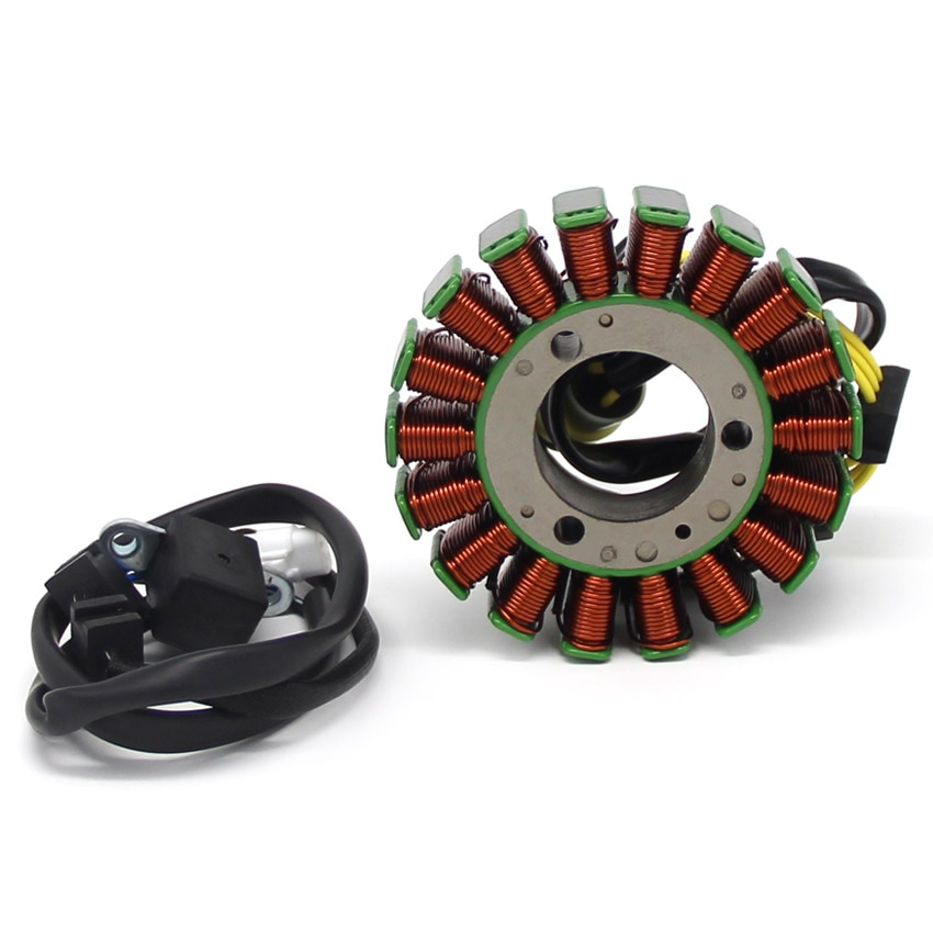 Motorcycle Magneto Stator Coil For Kawasaki moto KVF300 Prairie 1999 2000 2001 2002 OEM  :21003-1343     Motorcycles Accessories high speed motorcycle rotor magneto kits stator coil for yinxiang lying 150cc and 160cc engine motor accessories