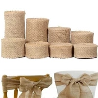 2m natural jute burlap hessian ribbon rolls 253040506080100mm vintage rustic wedding gift wrapping party christmas decor