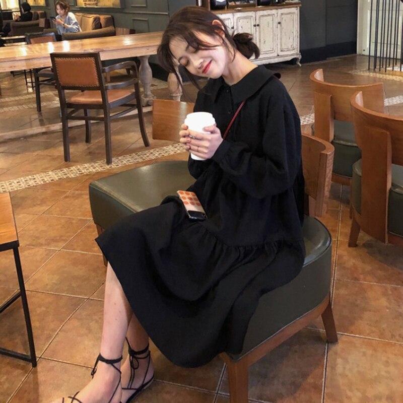 Cold Color Pallete Women's Black Noble Cool Beautiful Elegant Mature Early Autumn 2019 New Dress Ins