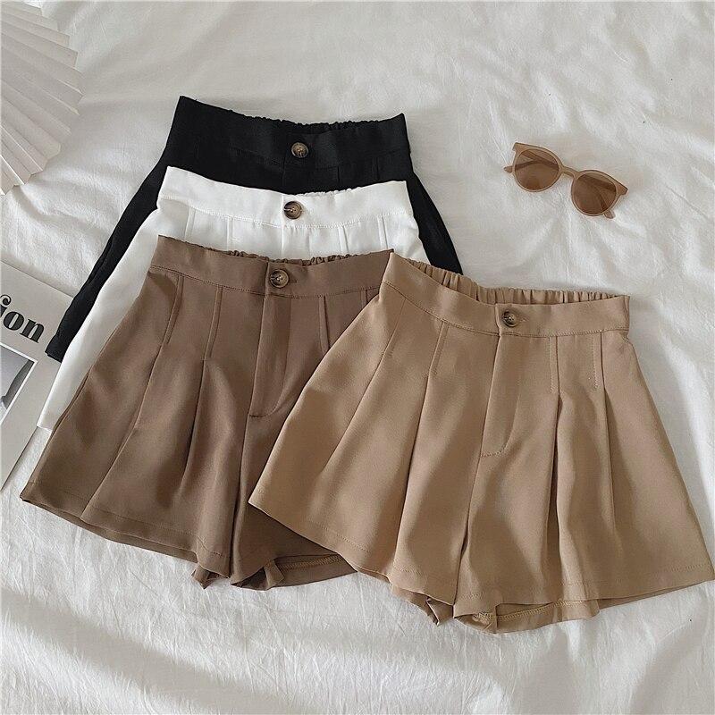 2020 Spring Summer Autumn New Women Fashion Casual Cute Sexy Shorts Hot Outerwear Female OL Black White Khaki Brown