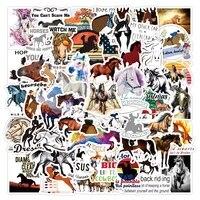 103050pcs horseman equestrian horse stickers aesthetic laptop water bottle waterproof diy graffiti decal sticker packs kid toy