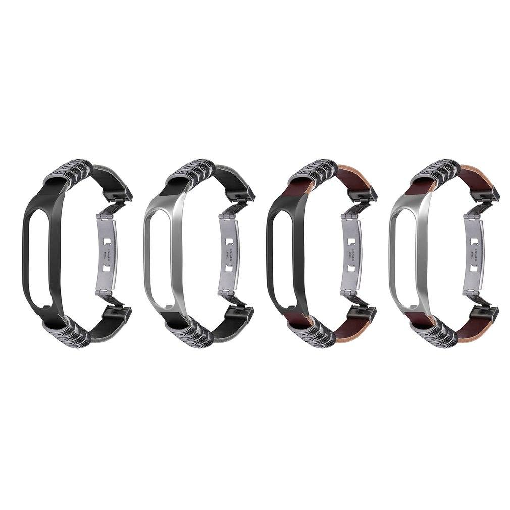 Correa de recambio para reloj tomtom touch, hebilla de mariposa de doble presión Retro con carcasa de Metal y hebilla cruzada de estilo Simple