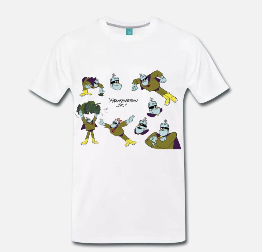 Camiseta MAGLIA FRANKENSTEIN JUNIOR HANNA BARBERA, CARTONE ANNI 80 1 S, M, L, XL