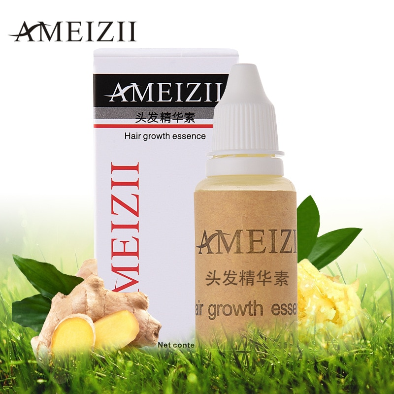 1pcs AMEIZII 20ml Ginger Fast Hair Growth Essence Products Restoration Hair Loss Liquid Product Hair