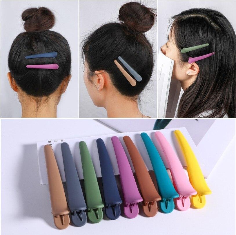 4Pcs/Set Basic Hair Grip Clips Women Hair Clamps Clip Fix Fringe Barrette Makeup Washing Face Access