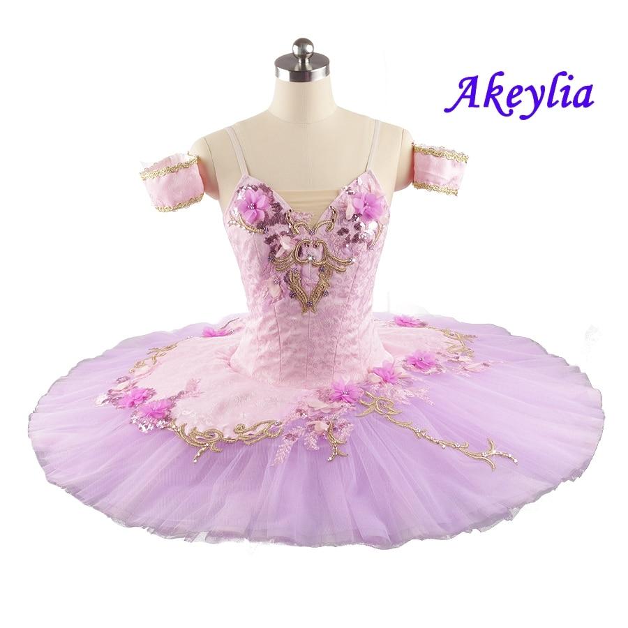 Girls Pink purple Professional Ballet Tutu fairy Doll performance pancake Tutu Ballet Danseuse Classical Tutu For Adult JN0101 недорого