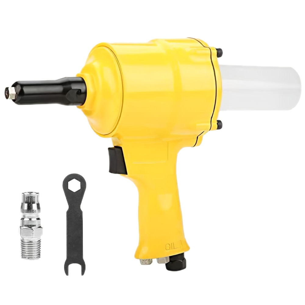 Air Riveter Pneumatic Riveting Tool Pull Nut Suitable Automatic for Aluminum Iron Stainless Nail Operated Riveter Multi-use Tool