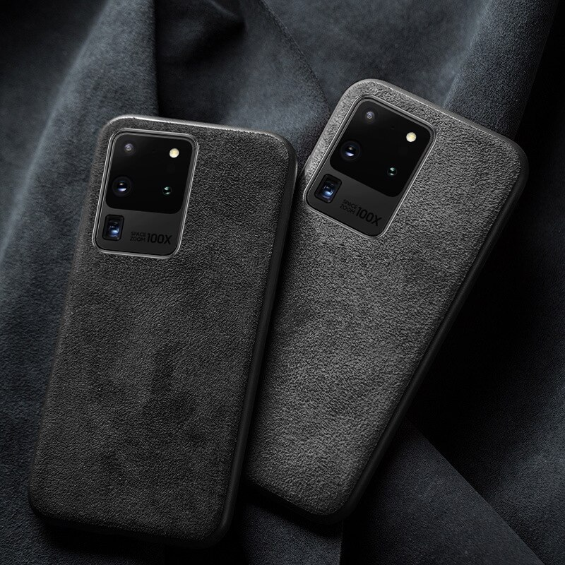 Telefon Fall Für Samsung Galaxy S20 Ultra S10 S10e S8 S9 Hinweis 8 9 10 20 Plus S7 Rand A71 a51 A70 A50 A30 A20 Wildleder Leder Abdeckung