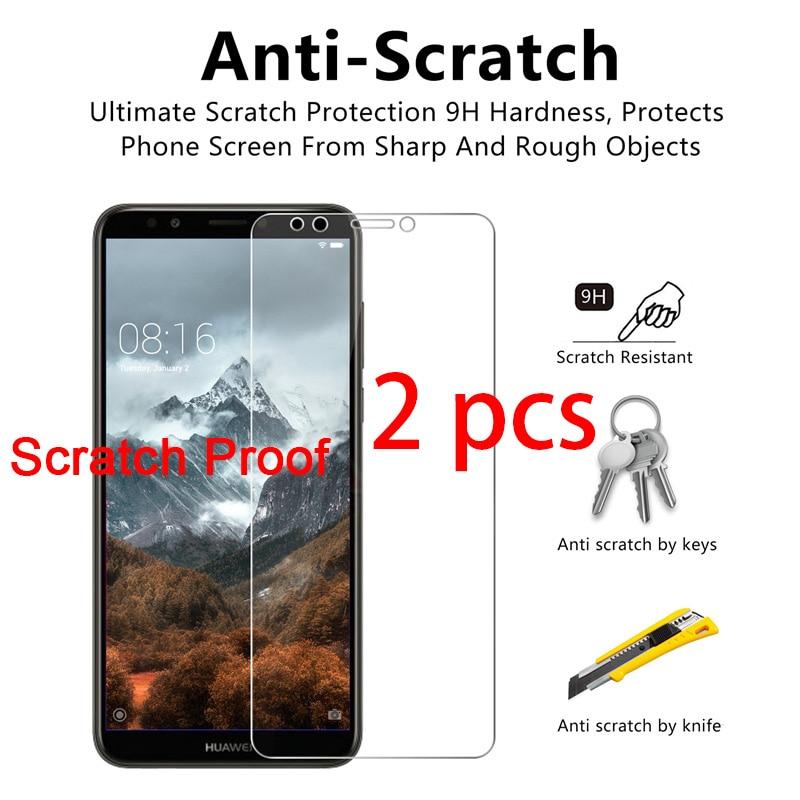 2 шт 9H твердое закаленное защитное стекло для huawei mate 20 Lite P20 Pro P7 P6 HD защита экрана на huawei P Smart Plus