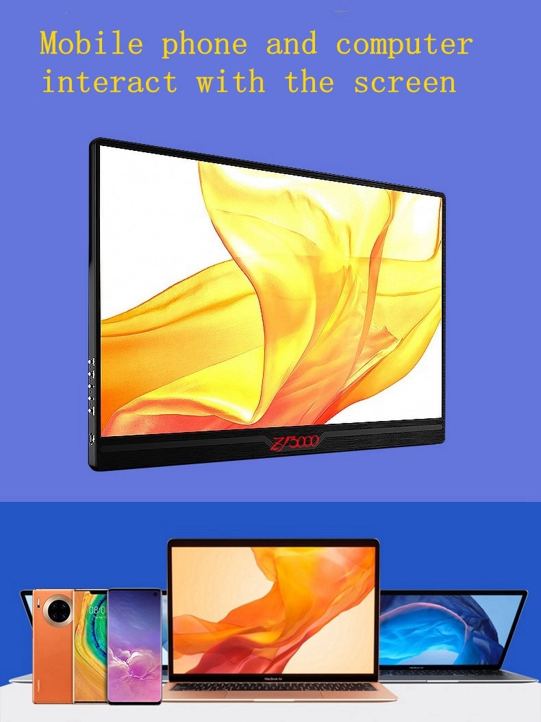 15.6 polegada portátil ips tela cheia hd monitor 1080 p hdmi/usb para raspberry pi ps4 jogo monitor