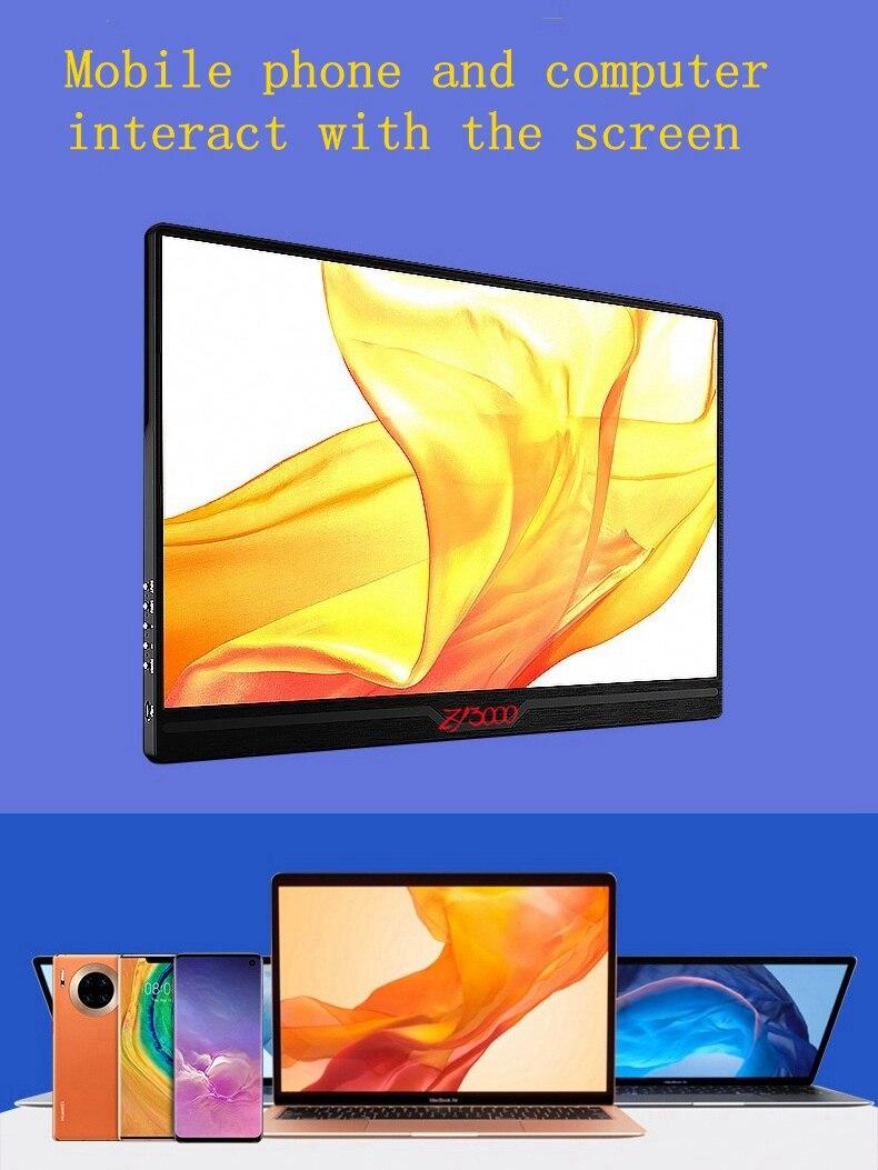 Portátil de 15,6 pulgadas IPS PANTALLA Full HD monitor 1080P HDMI/USB para Raspberry Pi PS4 juego monitor