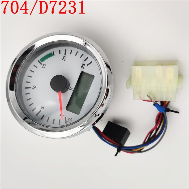 مقياس سرعة الدوران لـ JCB Backhoe Loader 3CX 4CX ، مقياس 704/D7231 704/50097