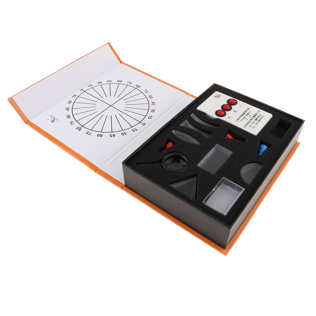 Kit de prisma de lente convexa côncava óptica auxiliares de ensino suprimentos de laboratório