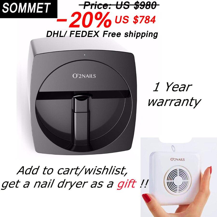 2 anos de garantia ferramenta prego Impressora da arte do Prego Máquina de impressão de unhas Manicure Transmissão de Imagem Usando O Telefone O2 unhas