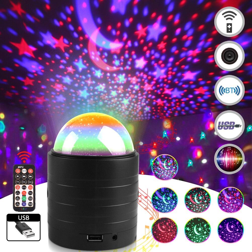 diodo emissor de luz luz de discoteca ativado por som rotativo efeito de palco luz
