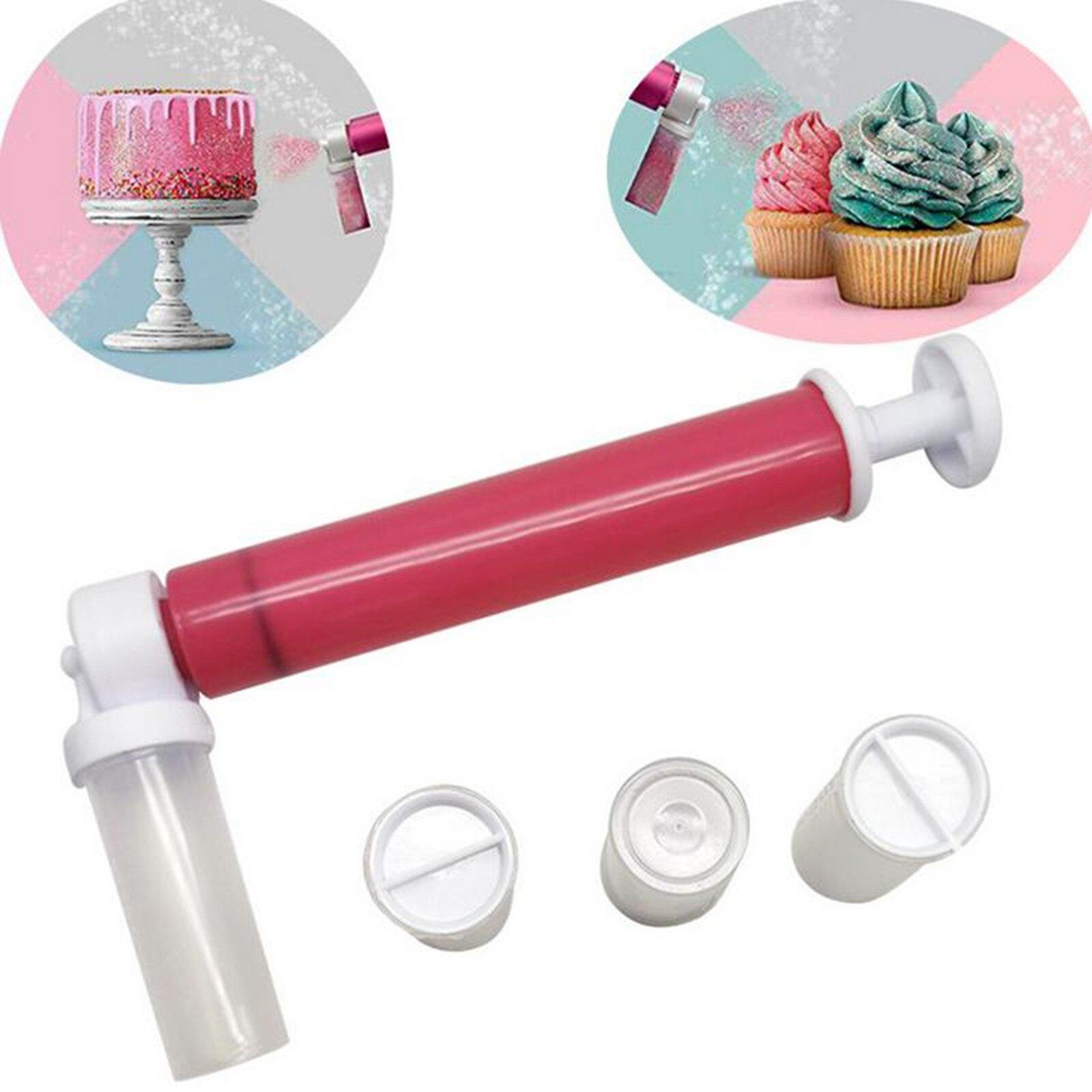 Bolo pistola de spray bolo airbrush pintura pulverizador duster manual rega pode ferramentas de decoração do bolo cozinha ferramentas de cozimento