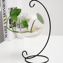 1 pc Halbkreis Eisen Regal Micro Landschaft Flasche Glas Ball Hängen Halterung Ständer Rack Haken Aufhänger DIY Kabine Haken Hause decor