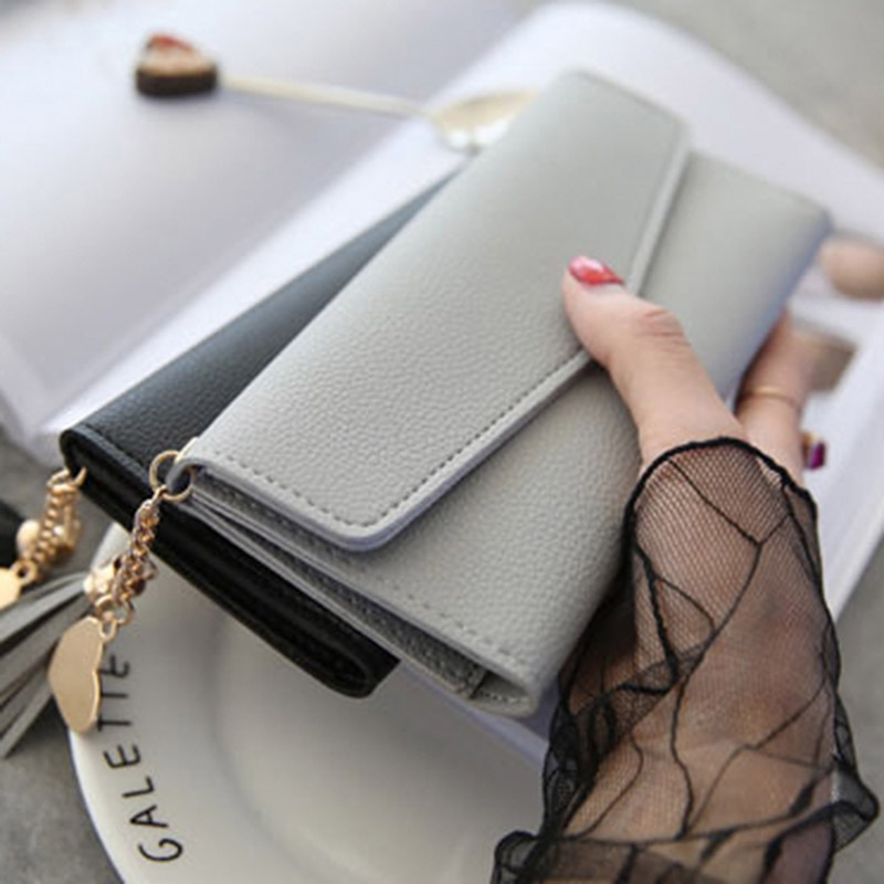Brand Designer Coin Cluth Purses Leather Wallets Women Long Tassel Luxury Clutch Phone Wallets Credi