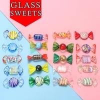 Bonbons colores Vintage en verre de Murano  20 pieces  decorations de noel pour la maison  cadeaux aleatoires
