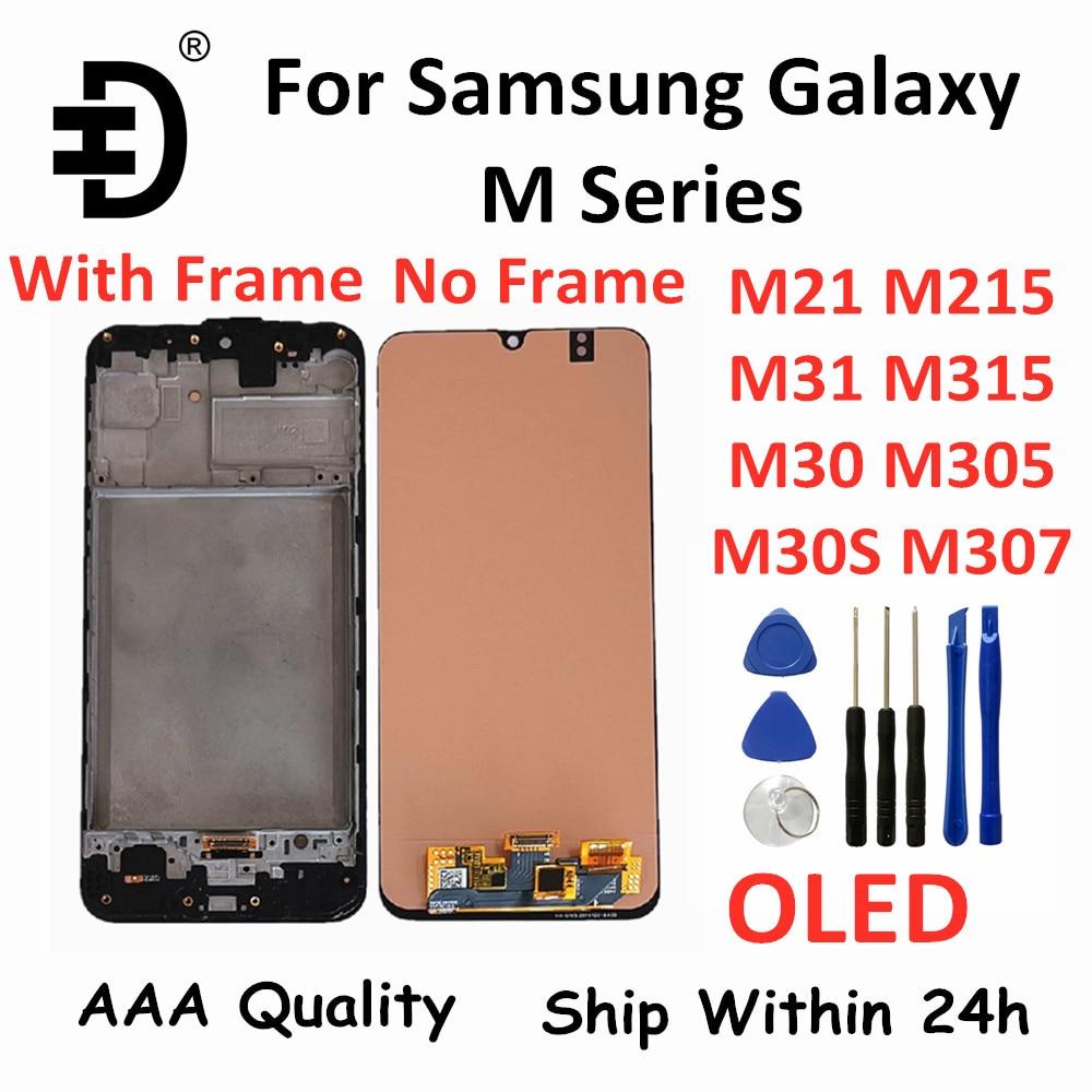 الأصلي LCD لسامسونج غالاكسي M21 M31 M30 M30s LCD شاشة عرض تعمل باللمس محول الأرقام لسامسونج M215 M315 M305 M307 شاشة OLED