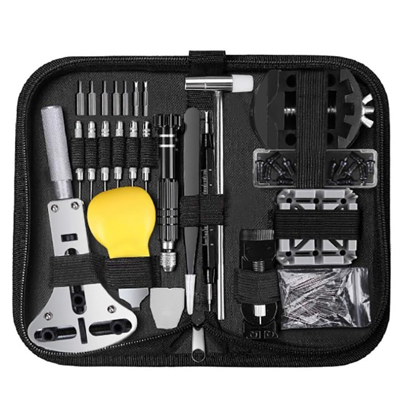 153 Pcs Watch Repair Kit Professional Spring Bar Tool Set,Watch Battery Replacement Tool Kit,Watch B
