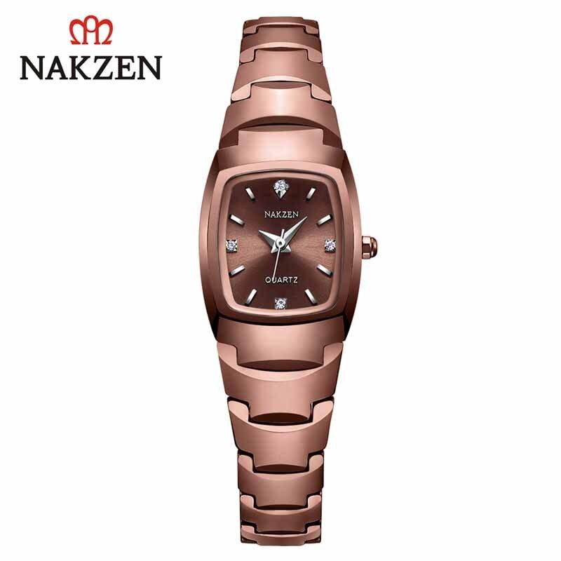 Relógio de Quartzo Relógio de Pulso Vida à Prova Água para Mulher Relojes de Mujer Nakzen Senhoras Luxo Diamante Dwaterproof Relógio Montre Femme Casual