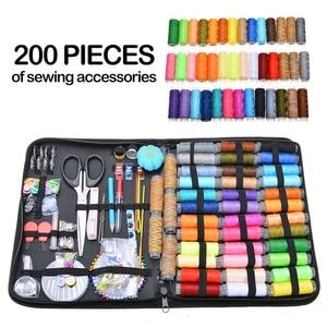 200pcs Multifunctional Sewing Tool Set DIY Craft Sewing Kit Sewing Accessories Sewing Thread Sewing Needles Tool Kit