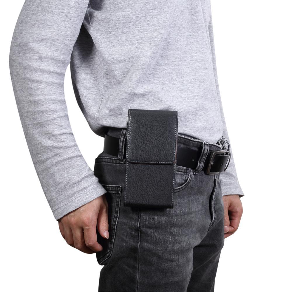 Universal Mobile Phone Pouch Leather Case For TCL 10L 10 Pro 10 5G Plex Y660 950 580 562 750 560 Belt Clip Phone Cases Bags