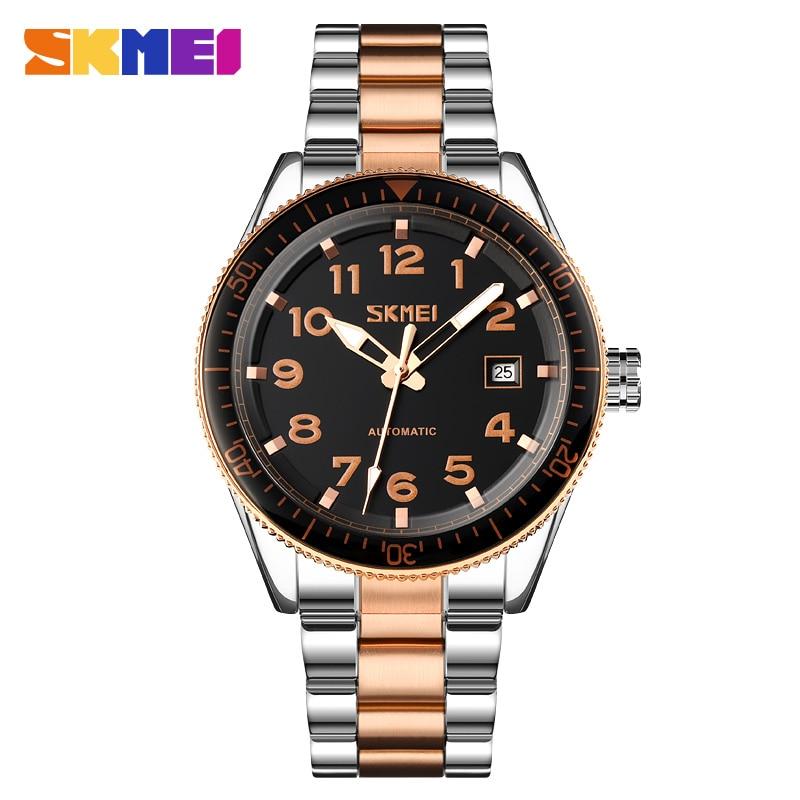Mechanical Watch Business Automatic Watch Men Date Time Mens Wristwatches Luminous Waterproof Male Watch SKMEI reloj hombre New