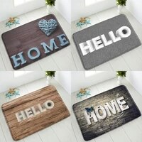 retro wood plank bathroom non slip mat simple letters bedroom kitchen doormat absorbent carpet washable welcome mat home decor
