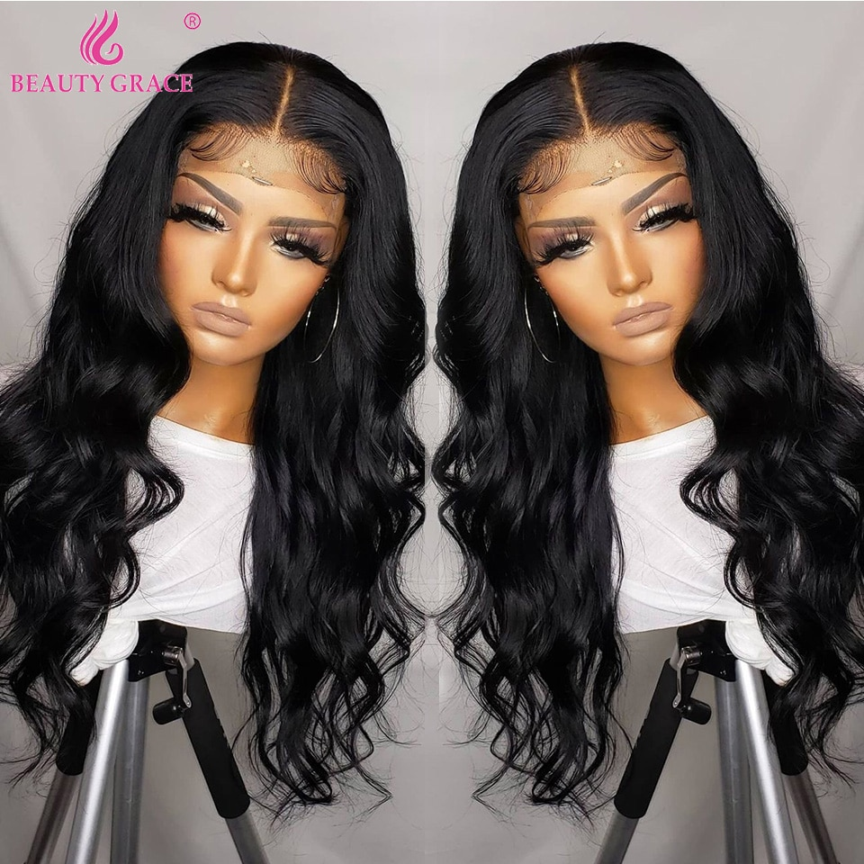 Wholesale Body Wave Human Hair Lace Front Wig Pre Plucked Lace Frontal Wig 4x4 Closure Wigs Brazilian Front Wig