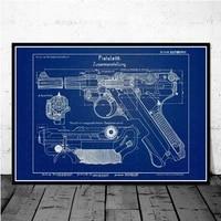 luger pistol patent blueprint gun chart modern painting art painting wall pictures for living room home decor %d0%ba%d0%b0%d1%80%d1%82%d0%b8%d0%bd%d1%8b %d0%bd%d0%b0 %d1%81%d1%82%d0%b5%d0%bd%d1%83