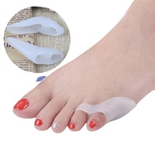 Soft Gel Thumb Separators Orthotics Stretchers Overlapping Toes Corrector Sport Daily Foot Care Orth