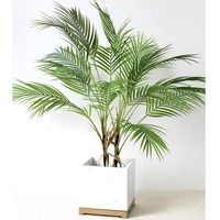 multiple green artificial palm leaf plastic plants garden home outdoor decorations scutellaria tropical tree fake plants