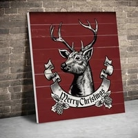 framed vintage deer merry christmas posters canvas paintings wall art canvas prints pictures kids room decor home inner frame