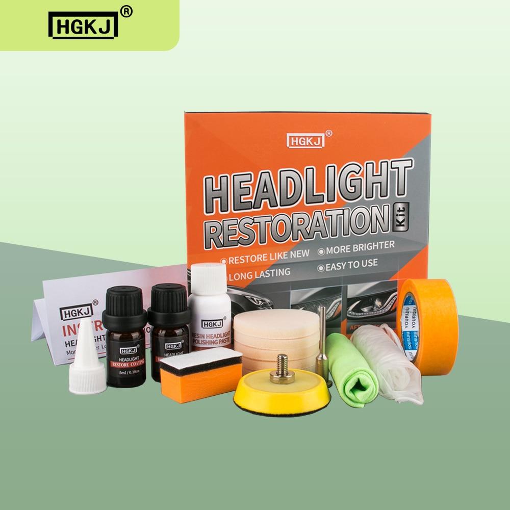 Восстанавливающий автомобильный светильник HGKJ, набор для полировки, химический ремонт, ремонт, ремонт автомобиля, жидкое полимерное защитн...