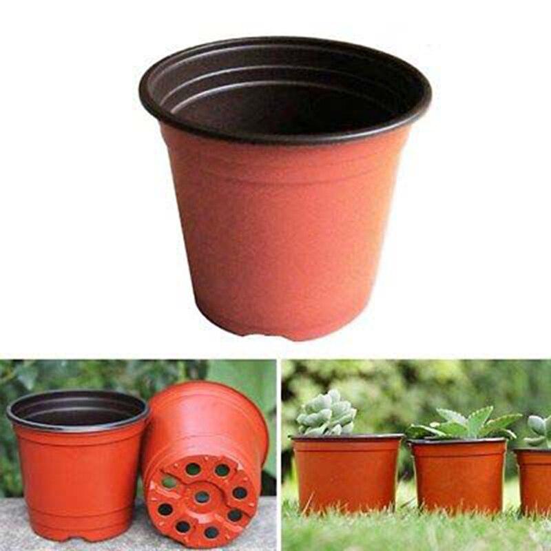 100 pçs vaso de flor de plântula de plástico potes de plantas de mesa vaso de jardim transplante berçário ferramentas de vegetação em casa