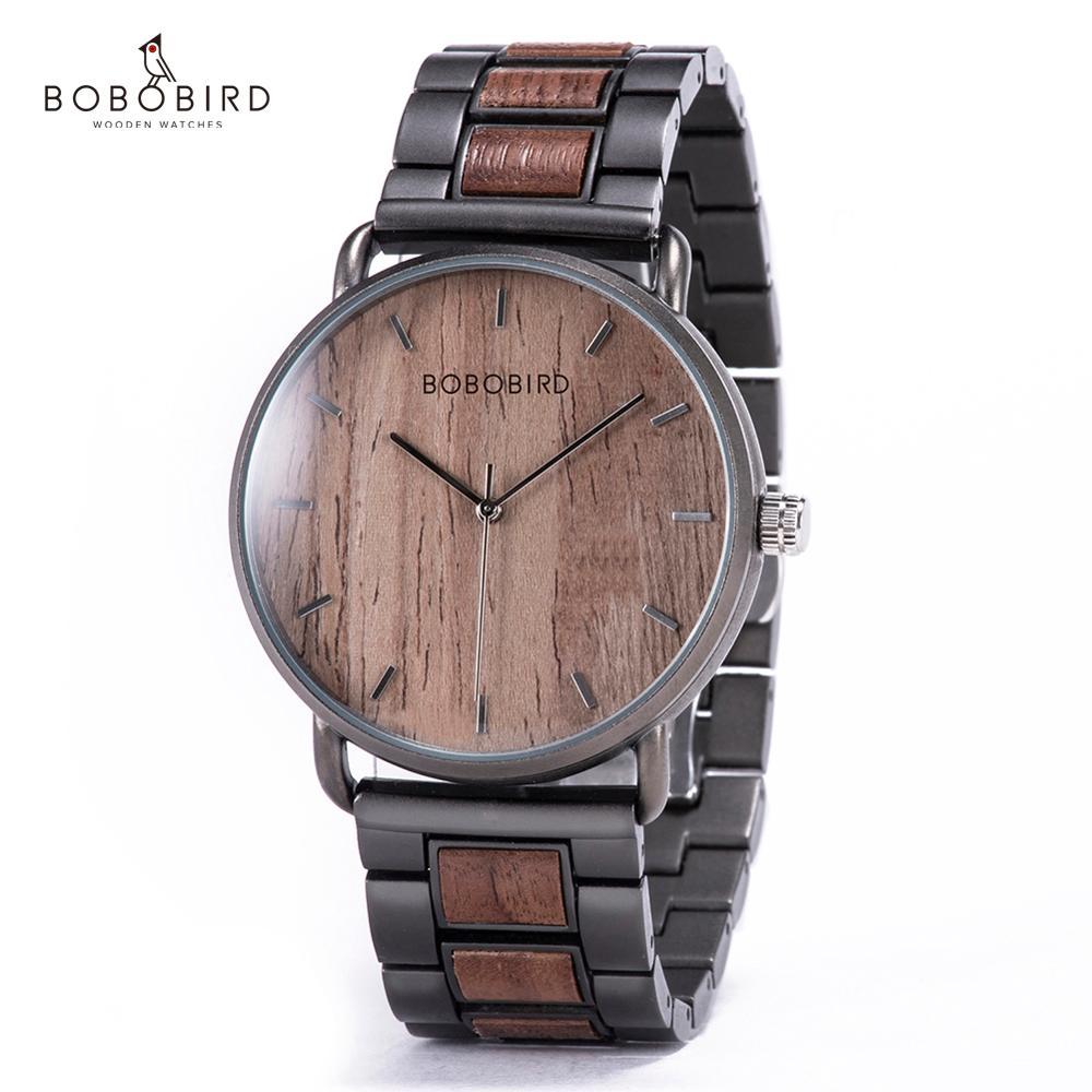 reloj hombre BOBO BIRD Wood Watches Men's Top Brand Luxury Quartz Wooden Wristwatches  for Male Clock Gift Drop Shipping OEM